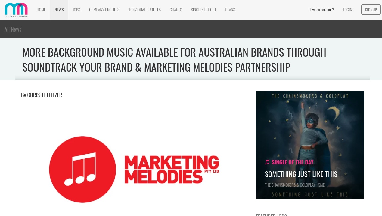 Music Network December 2017: More Background Music Available for Australian Brands Through Soundtrack Your Brand & Marketing Melodies Partnership